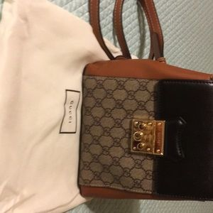 Back pack black and brown Gucci